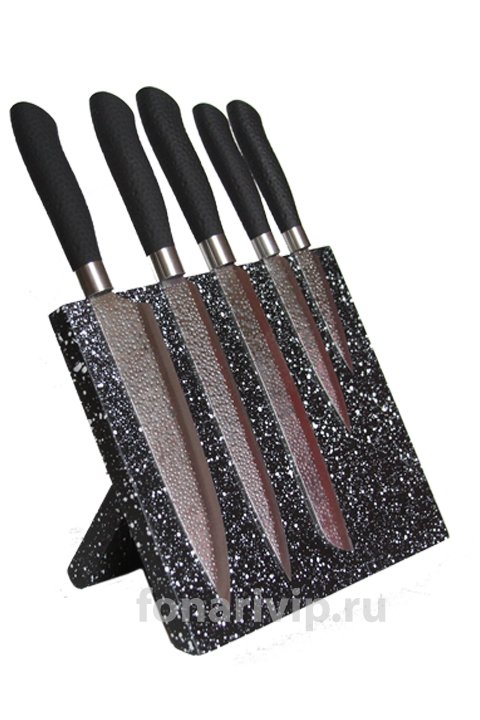 Набор стальных ножей EVERRICH на магнитной доске