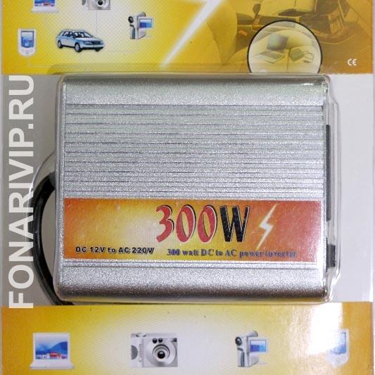 Преобразователь напряжения (инвертор) 12V в 220V 300W + USB 5V
