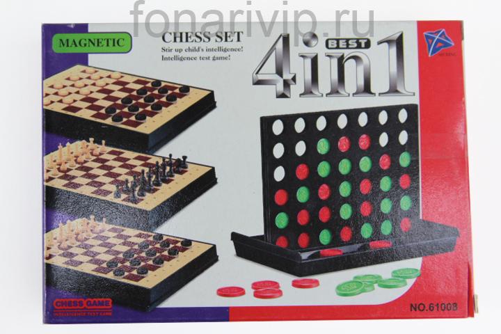 Настольная игра Шахматы 4 в 1 NO.61008