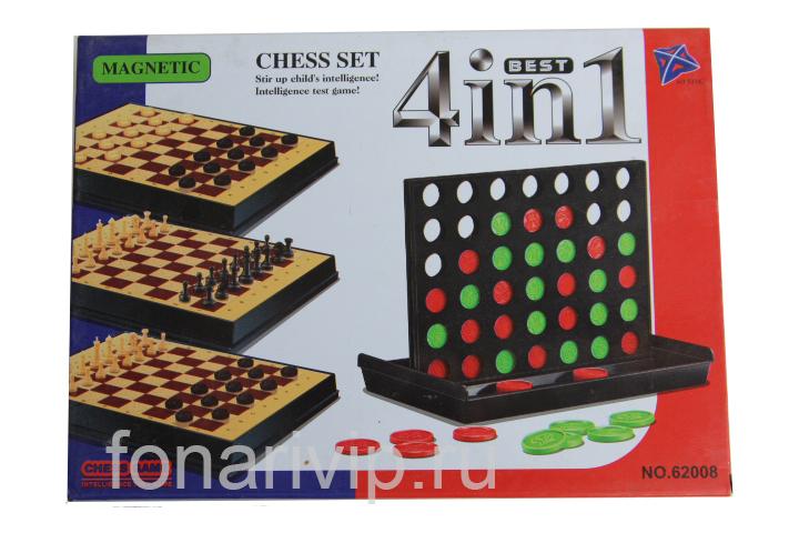 Настольная игра Шахматы 4 в 1 NO.62008