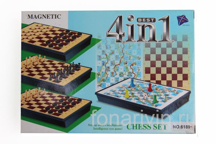 Настольная игра Шахматы 4 в 1 NO.6189