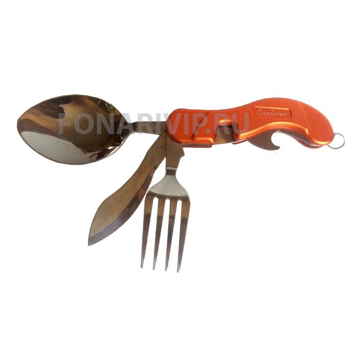 Набор туриста 4 в 1 (Ложка, нож, вилка, открывалка)