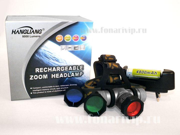 NB-K9 аккумуляторный светодиодный налобный фонарь